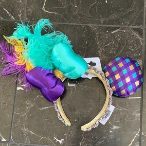 NWT Disney Mardi Gras Ears Headband
